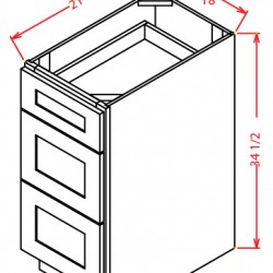 York Vanity Cabinets - 3 Drawers