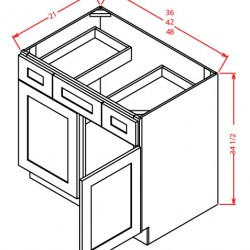 Shaker Vanity Cabinets - Combo Base