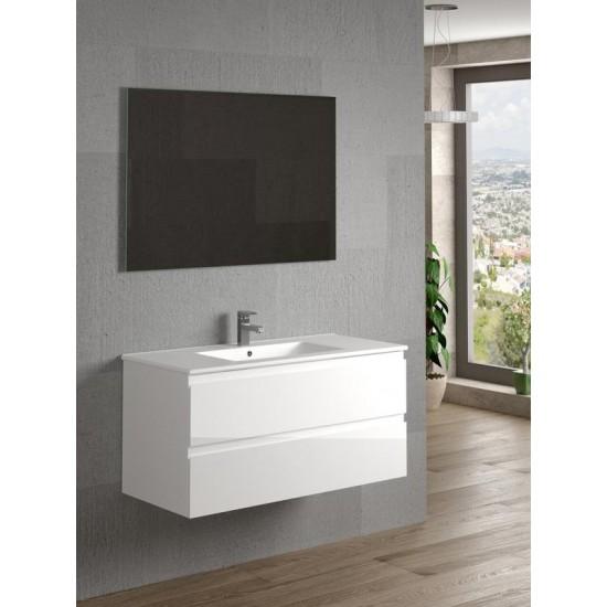 Dax Pasadena 40 Gloss White Bathroom Vanity