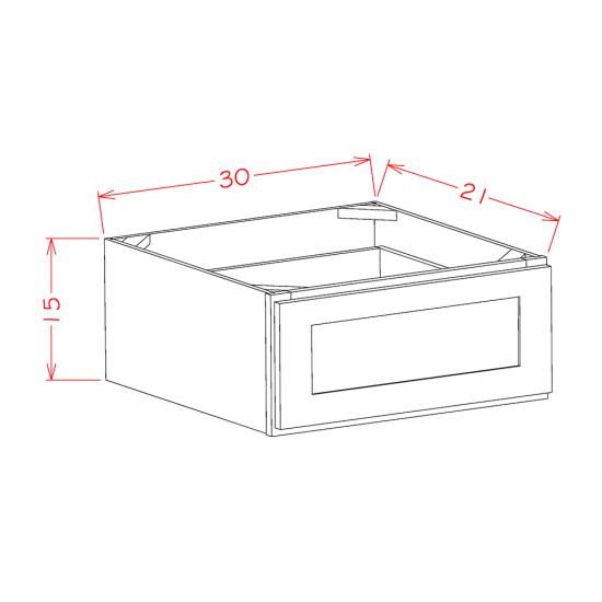 "Shaker Base Cabinets - 1 Drawer 30"" Wide"