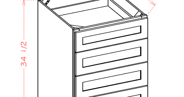 Shaker Base Cabinets - Four Drawers