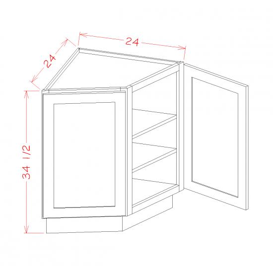 Shaker Base Cabinets - Angled End Cabinet