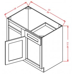 Shaker Base Cabinets - Blind Corner