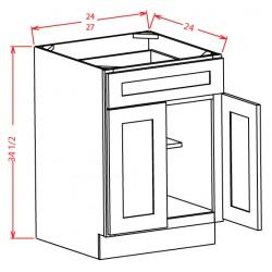 Shaker Base Cabinets - Double Door, Single Drawer