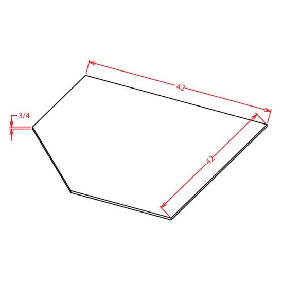 Shaker Base Cabinets - Diagonal Sink Front
