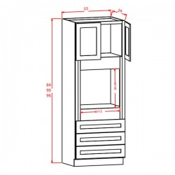 Shaker Tall Cabinets - Oven Cabinets