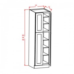 "Shaker Tall Cabinets - 4 Door Utility 24"" Wide"