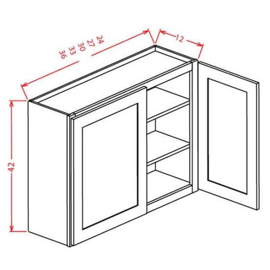 "York Wall Cabinets - 42"" High Double Door"