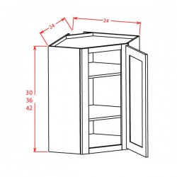 "Shaker Wall Cabinets - 36"" High Diagonal Corner"